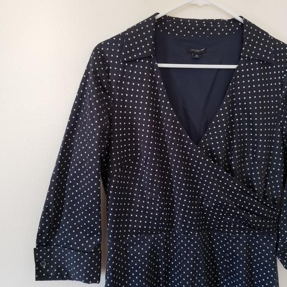 Ann Taylor Dresses & Skirts - Ann Taylor Polk-a-dot Collared Dress
